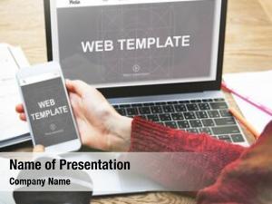 Internet web template technology concept