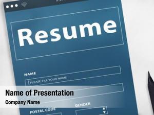 Employment resume recruitment concept