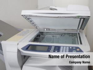 Center office copier under white
