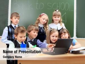Classroom happy schoolchildren during lesson