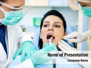 Dentist female patient assistant, wearing