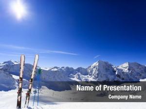 Season ski, winter mountains ski