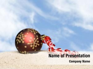 Ornament red christmas sandy beach