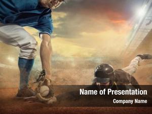 Dynamic baseball players action stadium