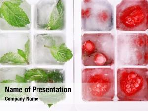 Forest ice cubes berries, mint