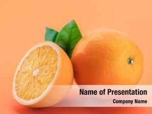 Orange orange fruit slices leaves
