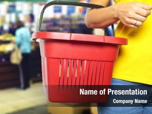 Empty women holding shopping basket