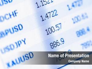 Monitor financial data