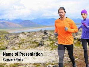 Runner woman trail running mountain