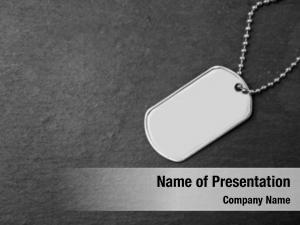 Military id tag on dark