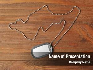 Military id tag powerpoint theme