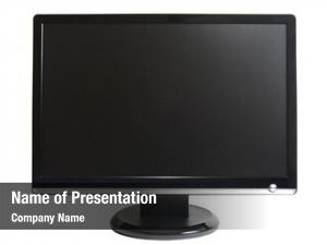 Computer frontal view lcd monitor