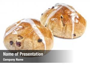 Hot homemade easter cross bun