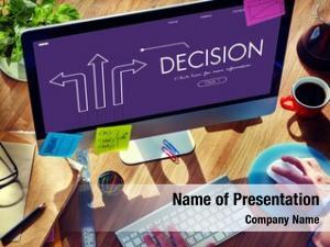 Businessman decision alternative directions