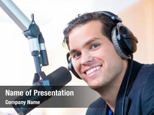 Radio presenter host station hosting