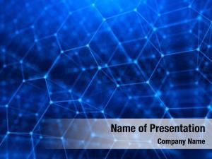 Internet concept network, communication hexagonal