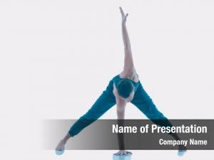 Practicing young man yoga