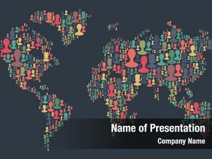 Made map world plenty people