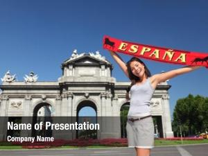 Tourist spain madrid holding espana