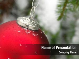 Hung christmas ornament christmas tree