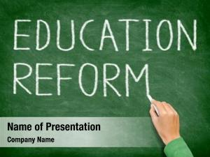 School education reform reform concept