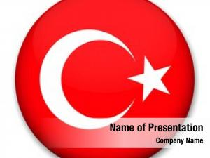 Form flag turkey round button