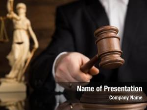 Courtroom judge powerpoint template