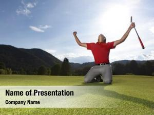 Male professional young golf player