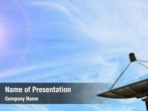Antenna conceptual black communication satellite