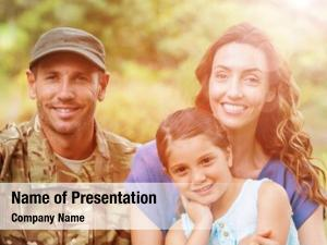 Army portrait smiling man family