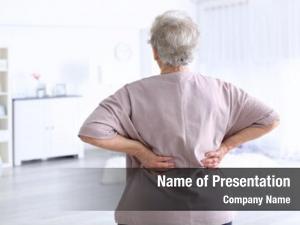 Suffering elderly woman backache home