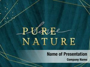 Golden pure nature frame leafy