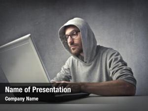 White portrait hacker