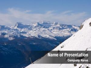 Alpine ski chairlift resort