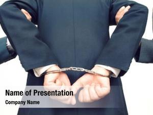 Arrested businessman being