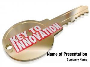 Innovation words key gold key