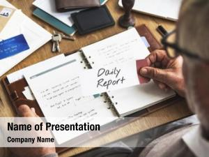 Financial daily powerpoint theme