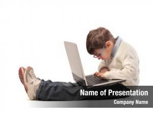 Laptop child using computer