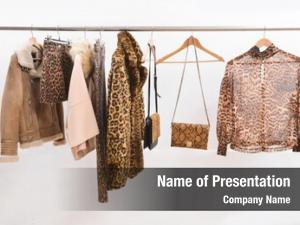 Leopard female brown pattern clothes,