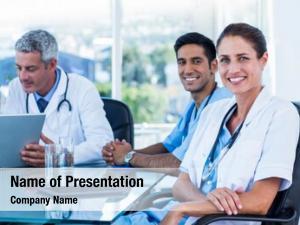 Doctors team smiling having meeting