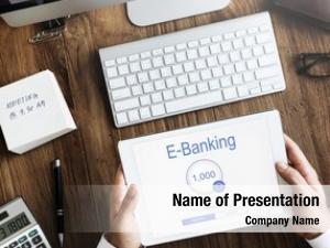 Businessman internet online banking