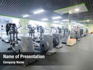 Fitness interior modern hall fitness
