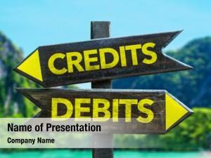 Signpost credits debits beach