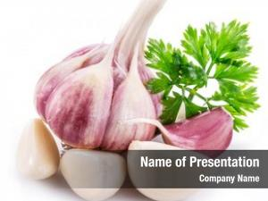 Garlic garlic bulb, cloves parsley