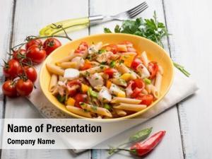 Hot chili pepper cold pasta salad