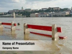 Flooding river danube budapest