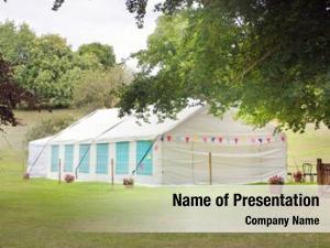 Marquee summer garden tent grass