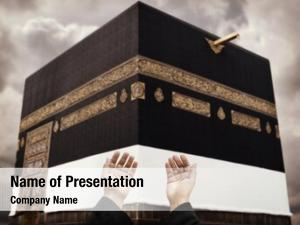 Praying muslim hands god front