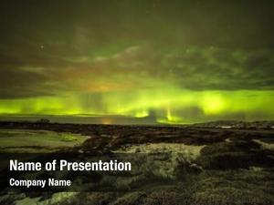 Glows aurora borealis