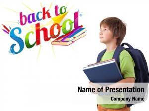 Back kid books school theme